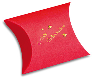 Fixbox in rot mit Aufdruck frohe Weihnachten